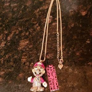 Betsey Johnson Super Mario Bros Pendant Necklace